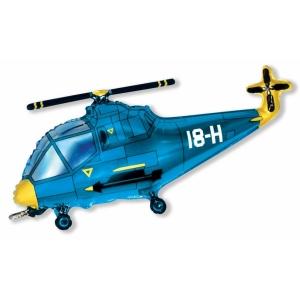 """Шар фольгированный """"Вертолёт""""(синий) 97 см. С гелием"""
