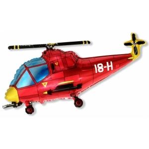 """Шар фольгированный """"Вертолёт""""(красный) 97 см. С гелием"""
