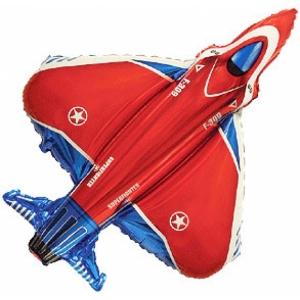 """Шар фольгированный """"Истребитель""""(красный) 100 см. С гелием"""