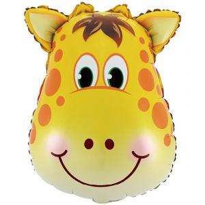 """Шар фольгированный """"Жираф"""" 61 см. С гелием"""