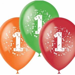 """Шар гелиевый """"С днём рождения. 1 год"""" 2 ст. 30 см."""