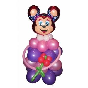 """Фигура из шаров """"Бабси Маус с букетом"""""""