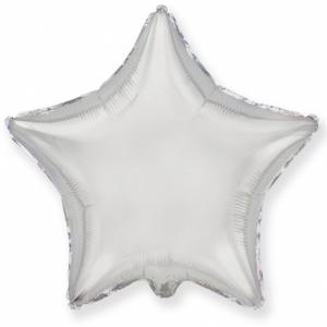 """Шар фольгированный """"Звезда""""(серебро) 48 см. С гелием"""