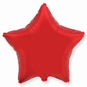 """Шар фольгированный """"Звезда""""(красный) 48 см. С гелием"""