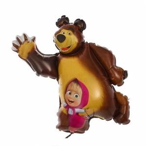 """Шар фольгированный """"Маши и медведь"""" 110 см. С гелием"""