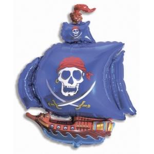 """Шар фольгированный """"Пиратский корабль"""" 104 см. С гелием"""