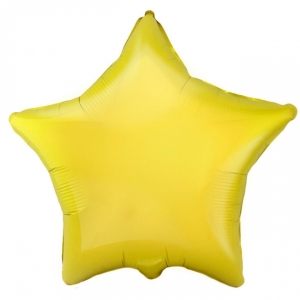 """Шар фольгированный """"Звезда"""" (жёлтый) 48 см. С гелием"""