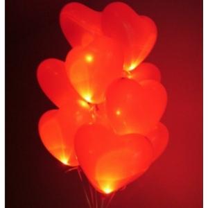 Облако из светящихся сердец 10 шт.