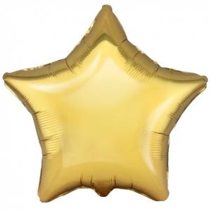 """Шар фольгированный """"Звезда"""" (античное золото) 48 см. С гелием"""