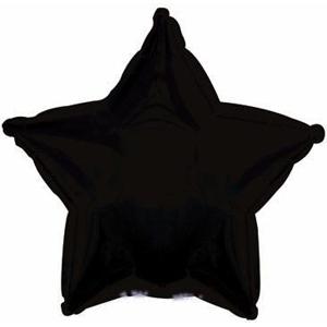 """Шар фольгированный """"Звезда"""" (чёрный) 48 см. С гелием"""