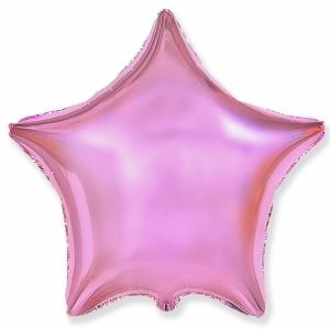 """Шар фольгированный """"Звезда"""" (розовый блеск) 48 см. С гелием"""