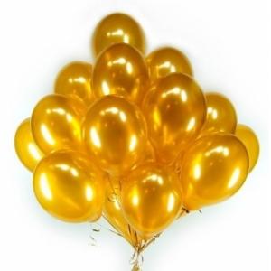 Облако из золотых(металлик) шаров.30 см. 20 шт.