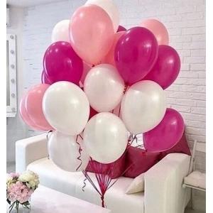 Облако шаров фуксия, розовый, белый. 20 шт с обработкой.
