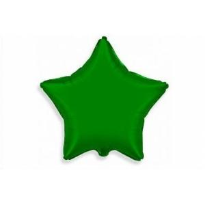 """Шар фольгированный """"Звезда""""(зелёный) 48 см. С гелием"""