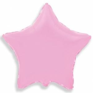 """Шар фольгированный """"Звезда"""" (розовый) 48 см. С гелием"""