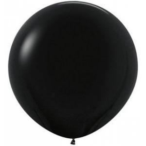 """Шар гигант метровый гелиевый чёрный 100 см (36"""")"""