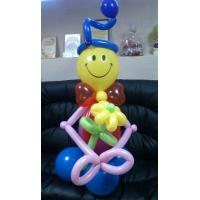 "Фигура из шаров ""Клоун с цветком"""