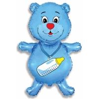 """Шар фольгированный """"Медвежонок-мальчик"""" 94 см. С гелием"""