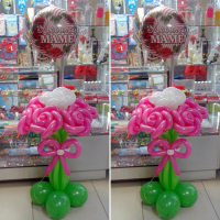 "Букет из 7 роз на подставке ""Маме"""