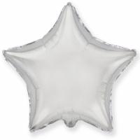 """Шар фольгированный """"Звезда""""(серебро) 78 см. С гелием"""
