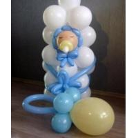 """Фигура из шаров """"Малыш в конверте и соска"""""""