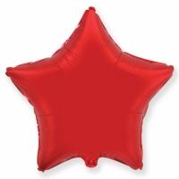 """Шар фольгированный """"Звезда""""(красный) 78 см. С гелием"""