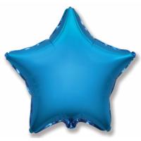 """Шар фольгированный """"Звезда""""(синий) 48 см. С гелием"""
