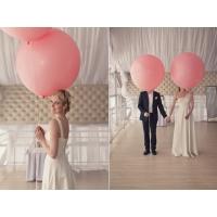 """Шар гигант метровый гелиевый розовый. 100 см (36"""")"""