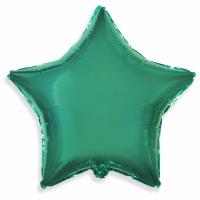 """Шар фольгированный """"Звезда""""(бирюза) 48 см. С гелием"""