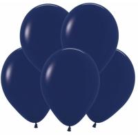 """Шар гелиевый Тёмно-синий (пастель) 30 см (12"""")"""
