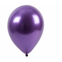 """Шар гелиевый хром фиолетовый, 12"""" (30 см)"""