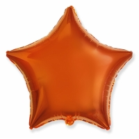 """Шар фольгированный """"Звезда"""" (оранжевый) 48 см. С гелием"""