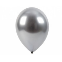 "Шар гелиевый хром серебро, 12"" (30 см)"