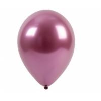 """Шар гелиевый хром розовый, 12"""" (30 см)"""