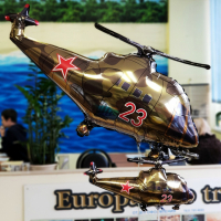 """Шар фольгированный """"Вертолёт. Камуфляж"""" 97 см. С гелием"""
