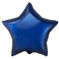 """Шар фольгированный """"Звезда"""" (тёмно-синий) 48 см. С гелием"""