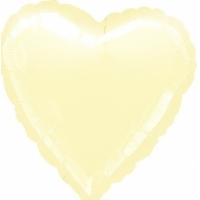 """Шар фольгированный """"Сердце""""(айвори) 48 см. С гелием"""