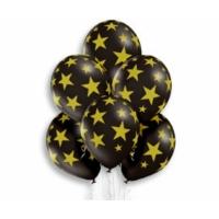 "Шар гелиевый ""Золотые звёзды на чёрном фоне"" 5 ст."