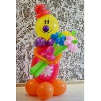 "Фигура из шаров ""Милый клоун с букетом"""