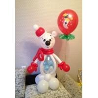"""Фигура из шаров """"Мишка с шариком"""""""