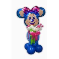 """Фигура из шаров """"Лолли маус с букетом"""""""