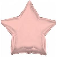 """Шар фольгированный """"Звезда"""" (розовое золото) 48 см. С гелием"""
