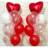 """Фонтан """"Сердце и шары с конфетти"""""""