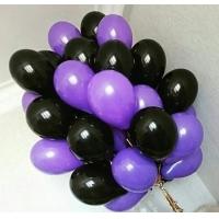Облако шаров чёрный и фиолетовый 20 шт. с обработкой.