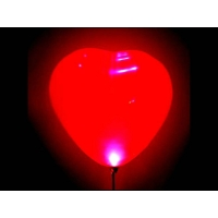 Светящийся шар-сердечко на палочке