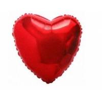 """Шар фольгированный """"Сердце""""(красный) 48 см. С гелием"""