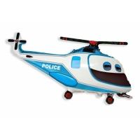 """Шар фольгированный """"Полицейский вертолёт"""" 97 см. С гелием"""