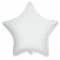 """Шар фольгированный """"Звезда"""" (белый) 48 см. С гелием"""
