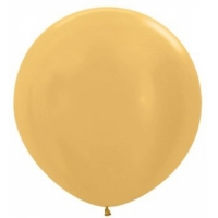 """Шар гигант метровый гелиевый золотой 100 см (36"""")"""