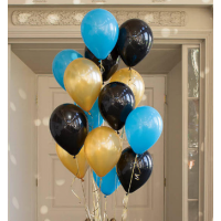 """Композиция из шаров """"Для мужчины"""". 30 см. 20 шт."""